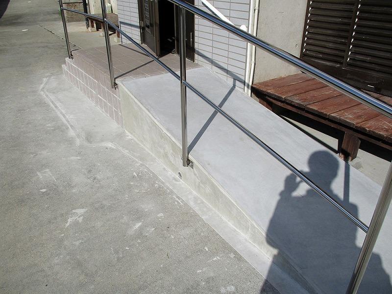 玄関スロープ新設工事