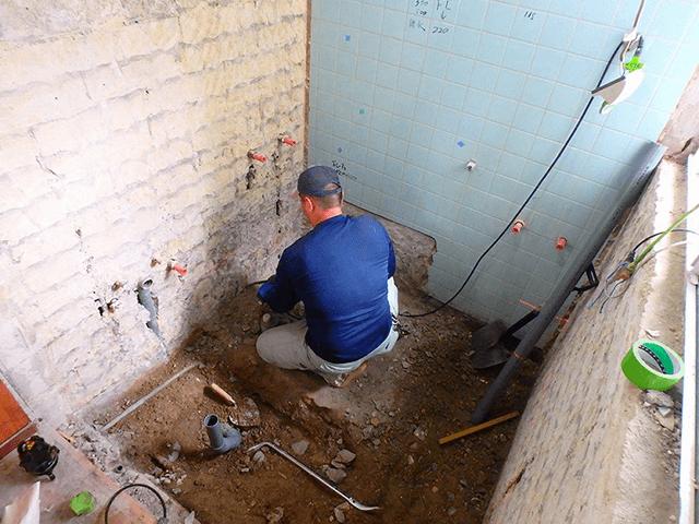 【2】浴室解体作業