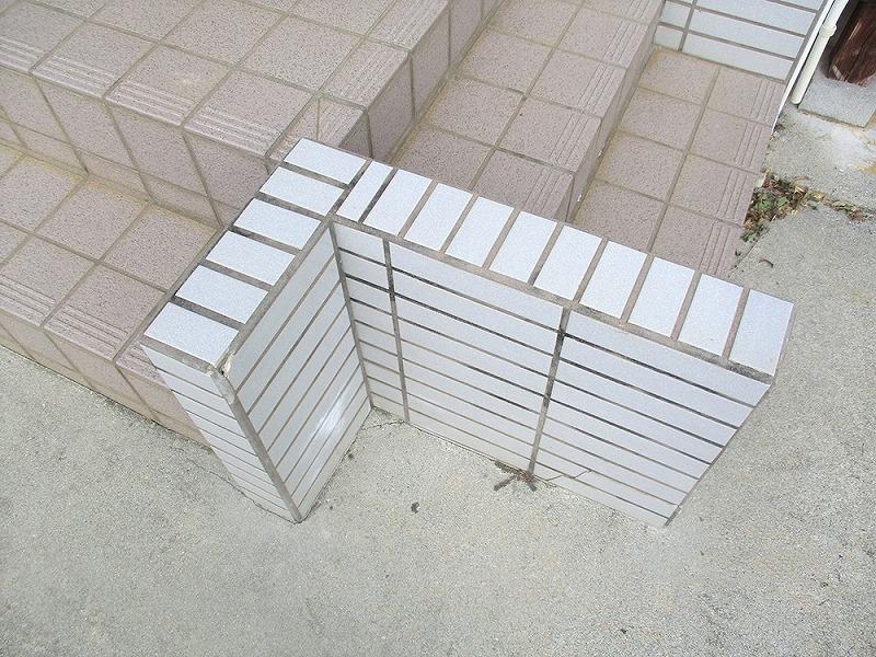 外構リフォーム ビフォーアフター〈階段〉 Before写真