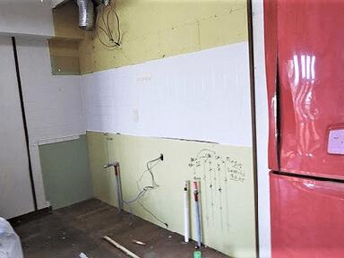 既存キッチン解体・撤去・墨出し
