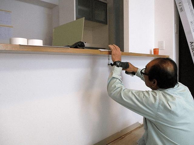 【1】キッチンカウンター撤去作業
