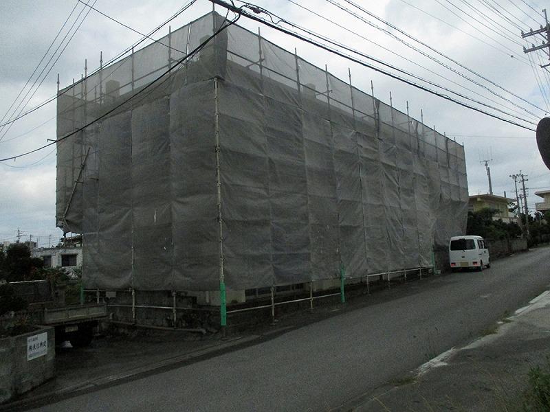1:足場組立(外壁・屋上防水)
