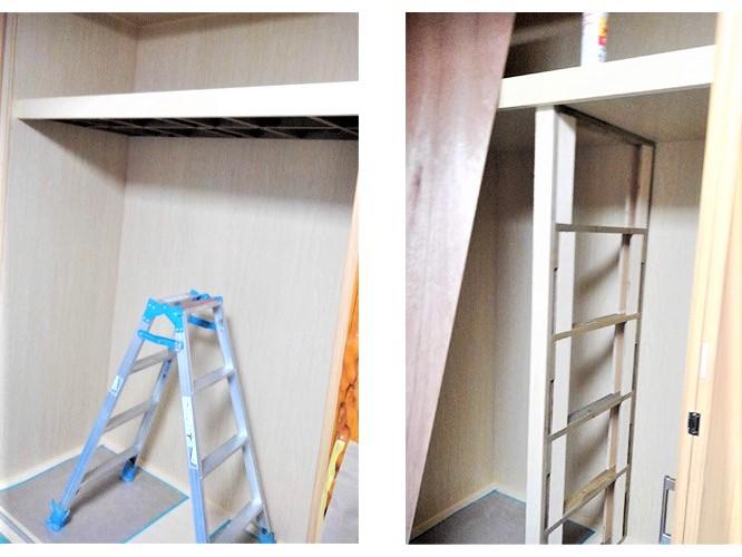 2:間仕切り・上棚作成・内壁張り