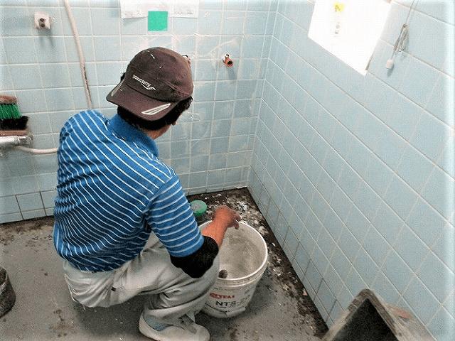 【3】浴室壁タイル張り