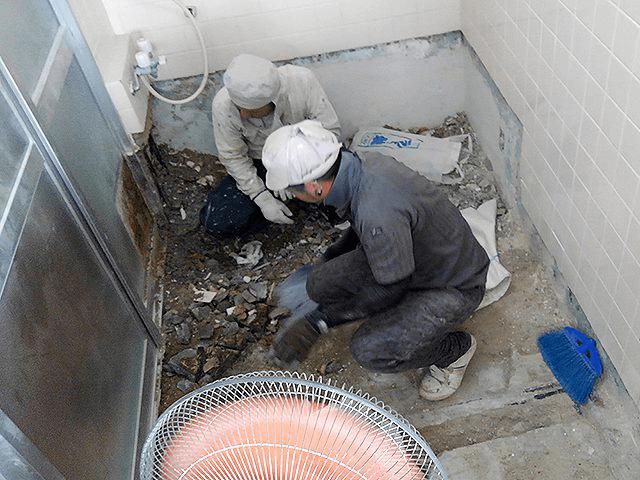 【2】浴槽撤去・はつり作業