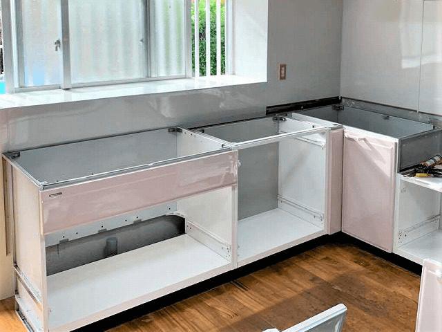 【6】システムキッチン組立て
