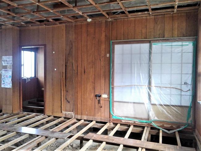 【2】床および間仕切りの解体・撤去