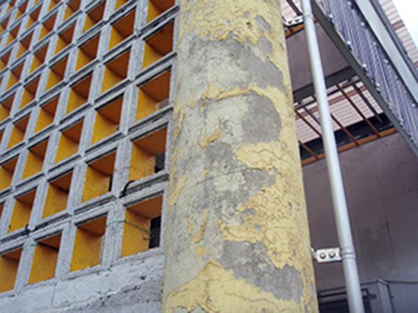 外壁塗装 ビフォーアフター〈目隠し塀〉 Before写真