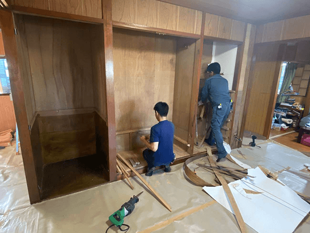 【2】壁解体・撤去