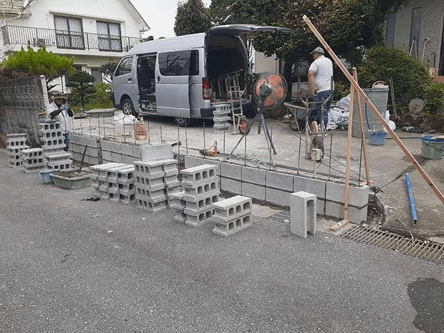 【2】ブロック積み作業