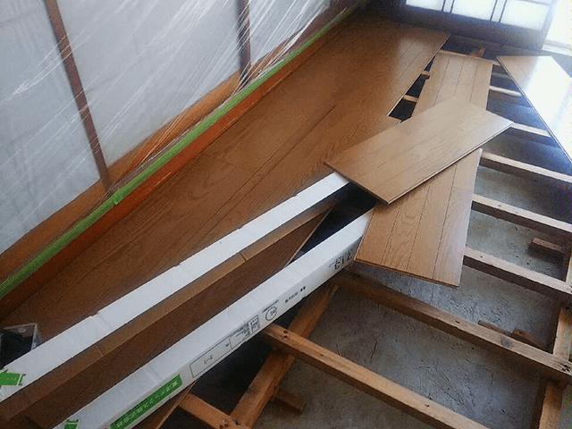 【4】床張り作業