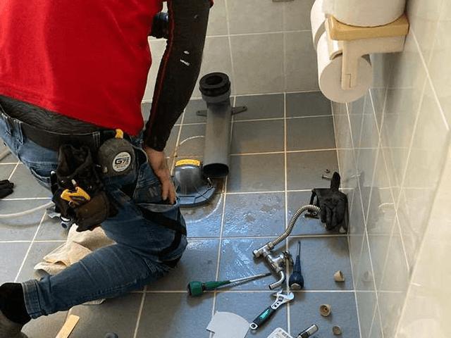 【1】既設トイレ解体・撤去作業
