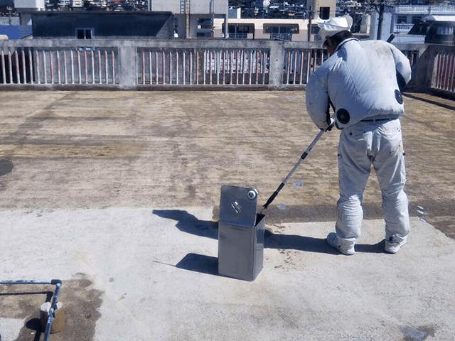 【4】屋上下塗り作業