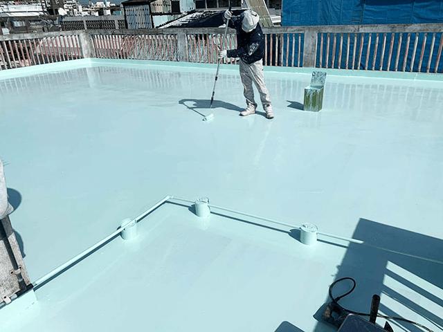 【8】屋上上塗り作業(2回目)