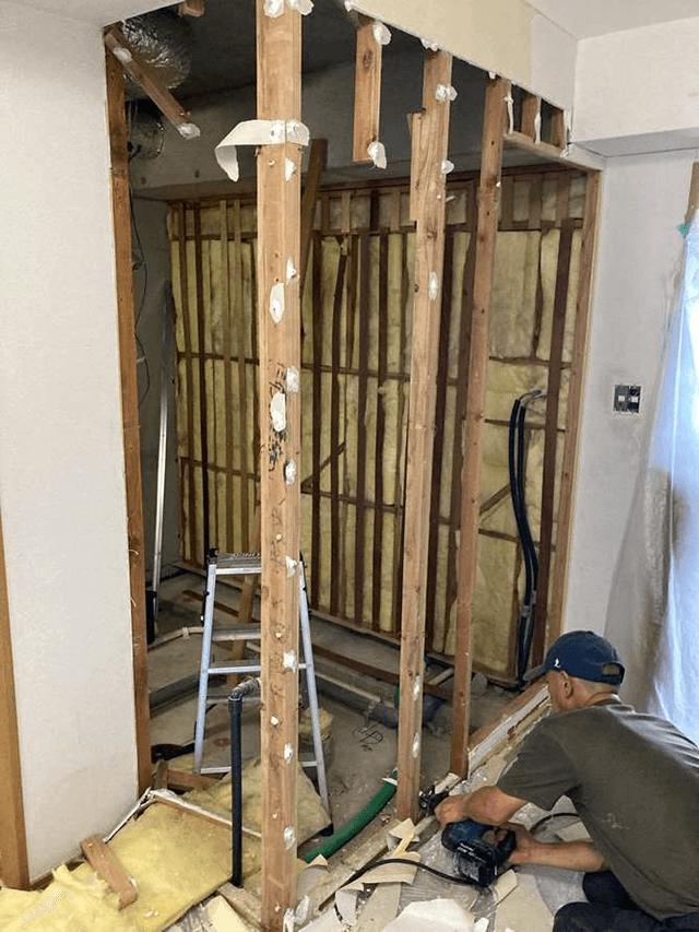 【1】既存浴室解体撤去工事