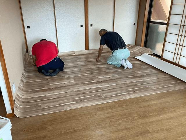 【6】床シート貼り