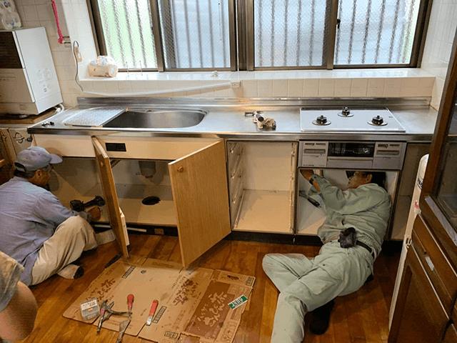 【1】既存キッチン解体撤去工事