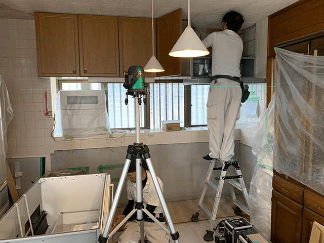 【3】システムキッチン組立設置