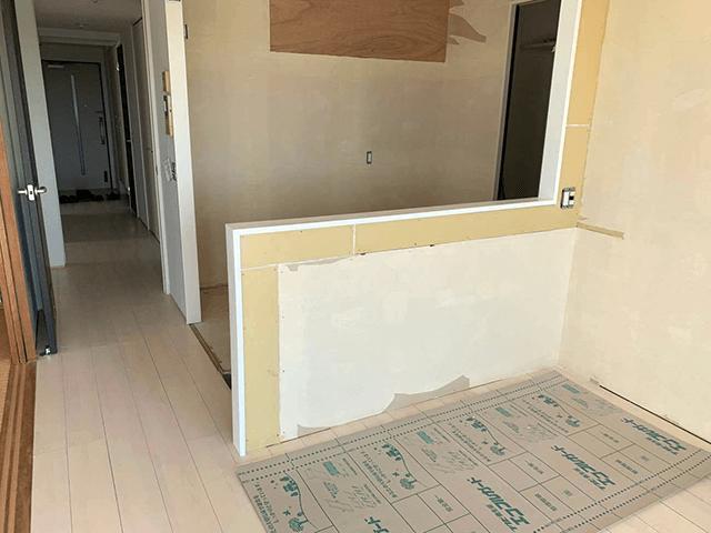 【2】既存壁・カウンター解体撤去工事