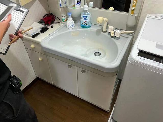 洗面化粧台 Before写真