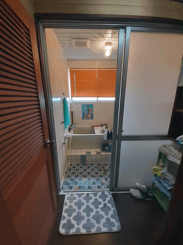 浴室出入口 Before写真