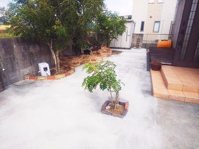 外構リフォーム後のお庭
