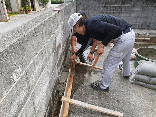 【2】コンクリート打ち