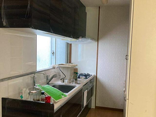 キッチン壁 Before写真